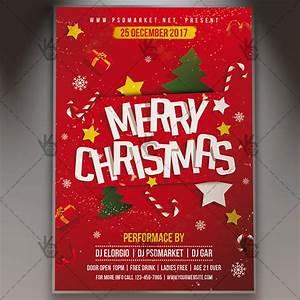 Merry christmas winter flyer psd template psdmarket for Merry christmas flyer