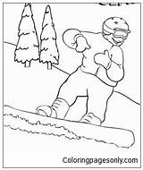 Snowboard Coloring Pages Printable sketch template