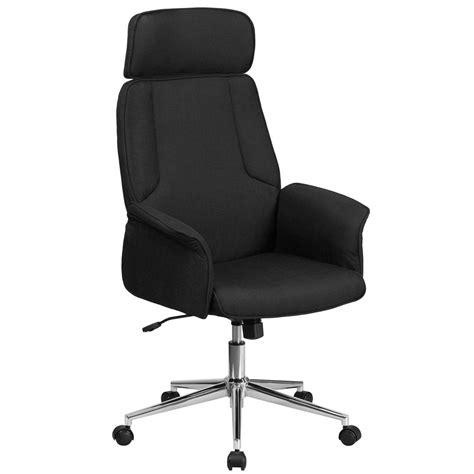 flash furniture high  black fabric executive swivel office chair  chrome base chcxhbk  home depot