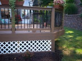 lattice skirting for decks st louis decks screened porches pergolas by archadeck