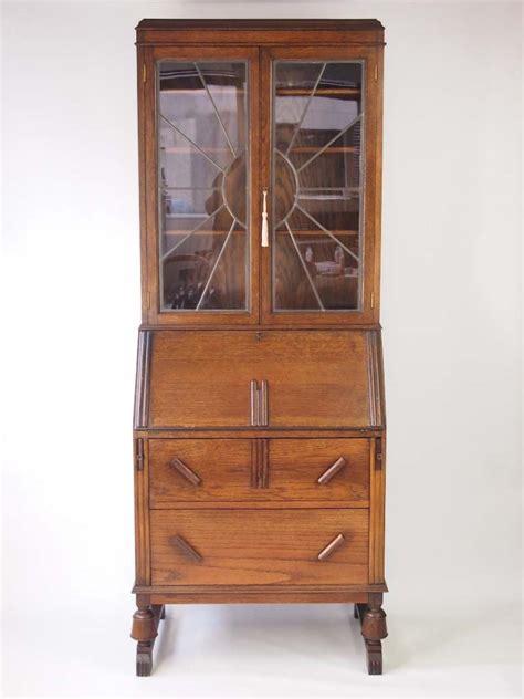 bureau bookcase vintage oak deco bureau bookcase