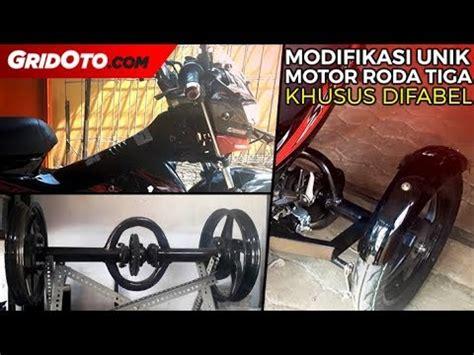 Motor Roda Tiga Modifikasi by Modifikasi Unik Motor Roda Tiga Khusus Difabel