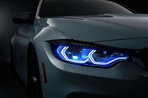 all auto lights bmw m4 concept iconic lights appear at ces