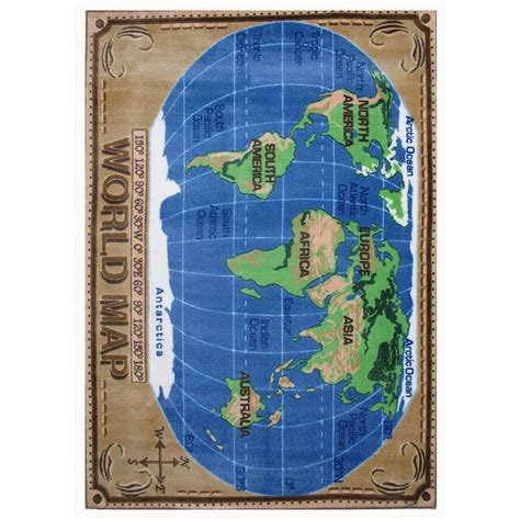 world map rug la rug supreme world map multi colored 31 in x 47 in