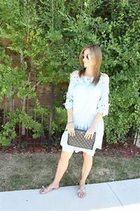 Baby Blue Splice Dress + Valentino Sandals - sparkleshinylove