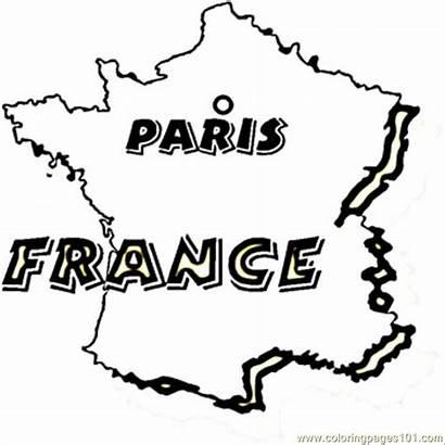 Coloring France Paris Printable Country Coloringpages101 Dibujos