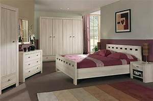 chambre a coucher chene massif moderne etagere celio With chambre a coucher bois massif