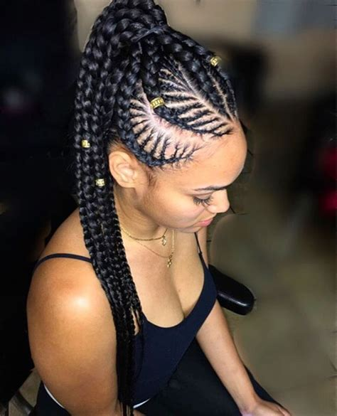 Cornrow Ponytail Hairstyles For by Stylist Feature This Cornrows Ponytail Styled By