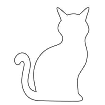 cat outline clipart clipground