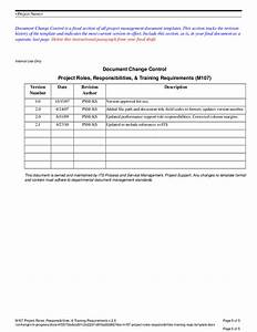 project roles responsibilities training requirements With documents control course