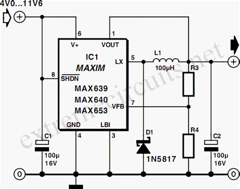 Compact Switching Step Down Converter Max Circuit