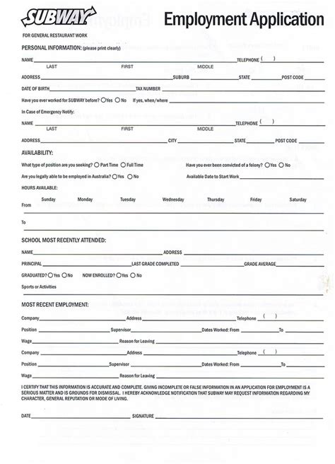 Free Resume Application by 5 Exle Of Application Form Penn Working Papers