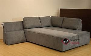 Quick ship new york by luonto fabric chaise sectional in for Sectional sleeper sofa nyc