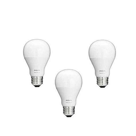 philips hue white a19 3 pack 60w equivalent dimmable led