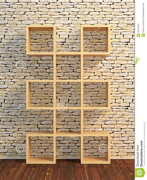 wooden book shelf stock image image