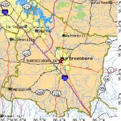 Murfreesboro TN Map