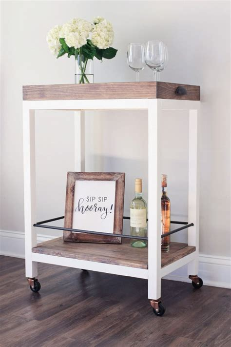 chic  quick   diy bar carts shelterness