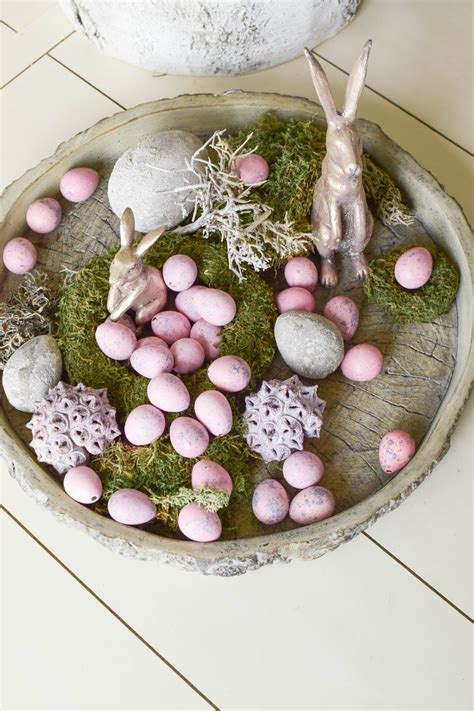 osterdeko  rosa osterdeko ostern deko und ostern