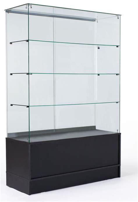standing display case black storage base full vision