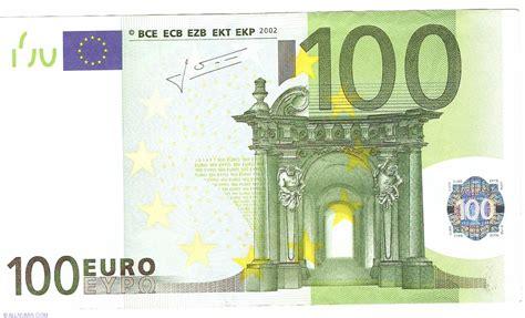canap 100 euros 100 2002 s italy 2002 issue 100 signature