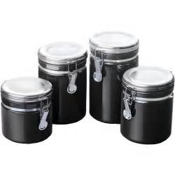 ceramic canisters for kitchen ceramic kitchen canisters black set of 4 in plastic food containers