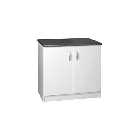 meuble cuisine 90 cm meuble bas sous évier cuisine oxane 90 cm 2 portes laquée
