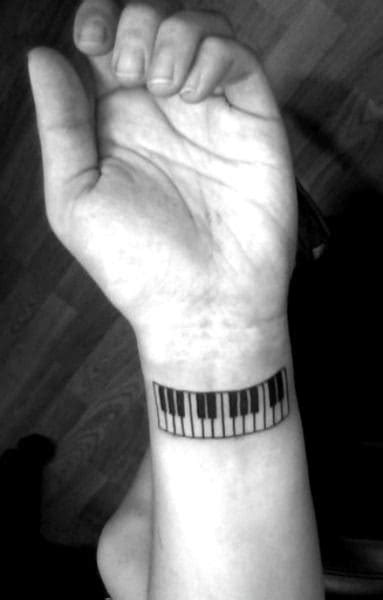 60 Piano Tattoos For Men - Music Instrument Ink Design Ideas
