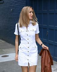 White Denim Jean Dress