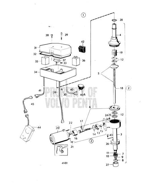 Volvo Penta Exploded View Schematic Mechanical Lift