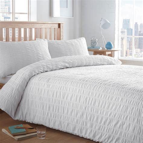 seersucker bedding home collection basics cream textured seersucker bedding set from debenhams ebay