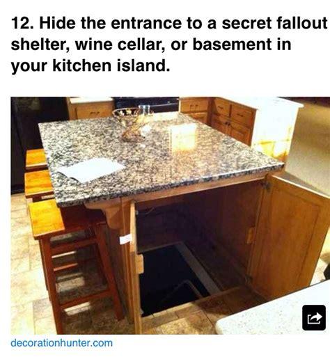 kitchen island secret passage panic room home goals i want this 5151