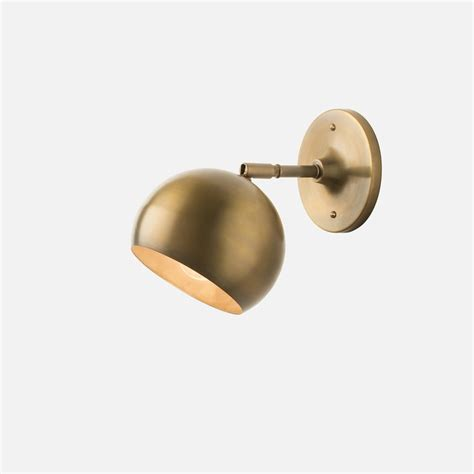 isaac sconce brass arm midcentury wall sconces