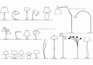 lamps set autocad blocks cad drawings free download With floor lamp cad block