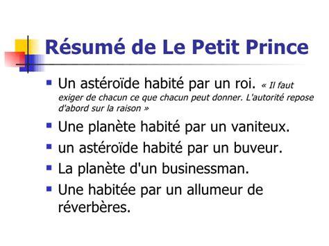 Petit Prince Resume Court by Le Petit Prince