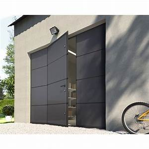 Porte de garage sectionnelle motorisee artens essentiel for Porte garage sectionnelle avec portillon leroy merlin