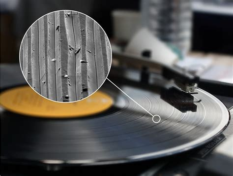 Vinyl Record's Grooves at 1,000x, Using an Electron ...