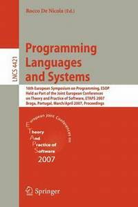 Lecture Notes In Computer Science Ser   Programming Languages And Systems   16th European