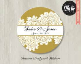 wedding stickers custom wedding stickers paisley lace wedding labels