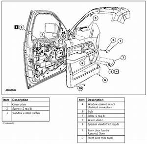 Doors Parts Description  U0026 32 Ford Focus Door Parts Diagram