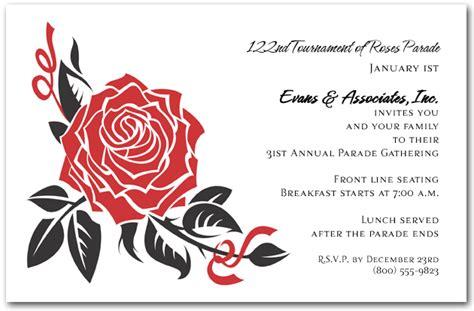 black  red rose invitations