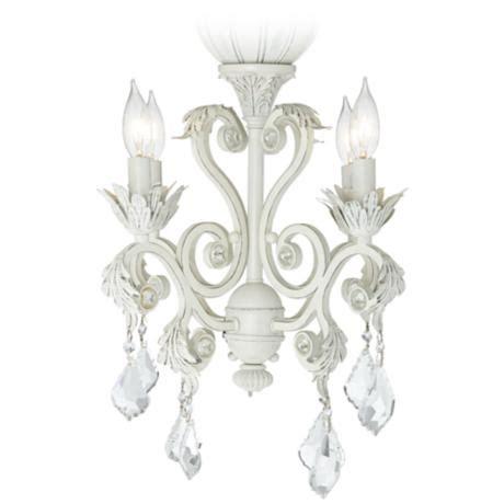 chandelier light kits for ceiling fans 4 light rubbed white chandelier ceiling fan light kit