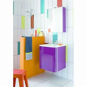 meubles de salle de bain a vasque integree de 50 ou 80 cm With meuble salle de bain vasque intégrée