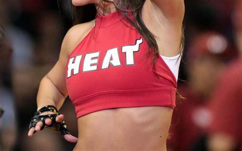 miami heat cheerleader basketball nba red uniform