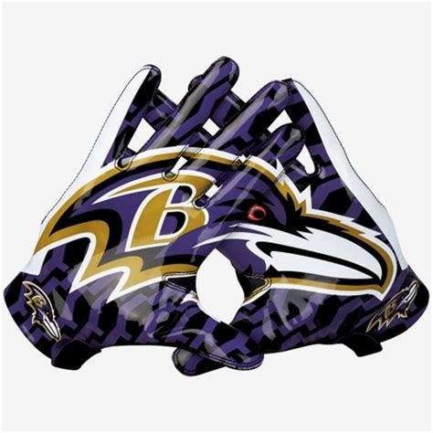 Baltimore Ravens Vapor Fly Team Authentic Series Gloves ...