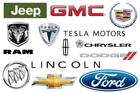all car logos and names in the world american car brands companies and manufacturers car