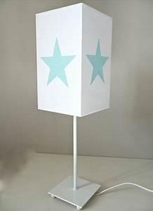 Lampe De Chevet Garçon : lampe de chevet coton blanc toile paillet e ~ Teatrodelosmanantiales.com Idées de Décoration