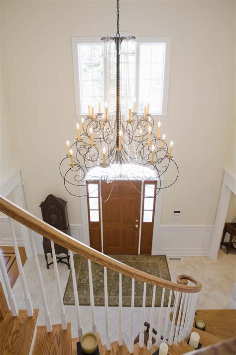 how to add a chandelier to a ceiling fan how to hang a chandelier from a sloped ceiling ehow