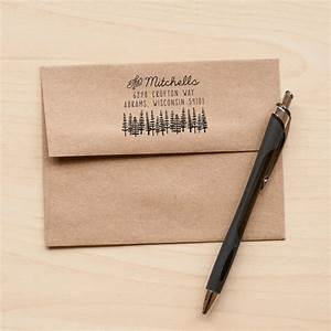 tree address stamp return address rubber stamp With return address rubber stamps for wedding invitations