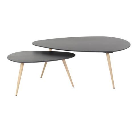 grand bureau noir tables basses gigognes noires pixy absolument design