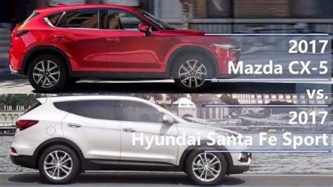 2017 Mazda CX-5 Vs 2017 Hyundai Santa Fe Sport (technical